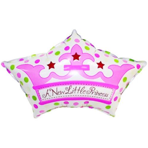 Шар 64 см Фигура Корона для принцессы Розовый