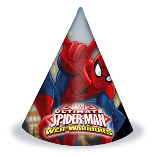 Колпаки Человек-паук Веб воины 6 штук