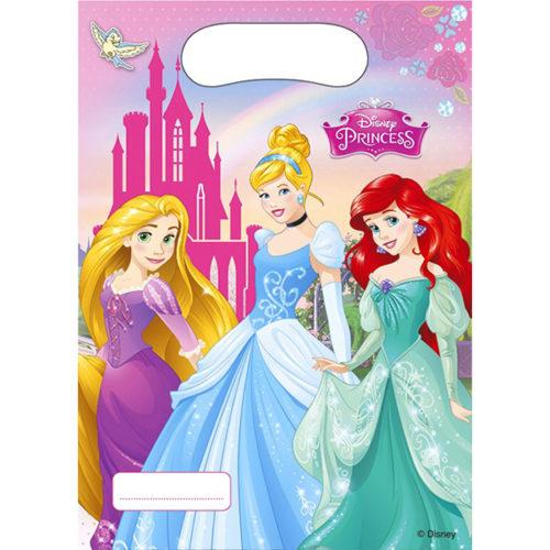 Пакеты подарочные 7 х 23 см Принцессы Disney 6 штук