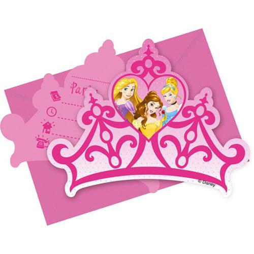 Приглашения 9 х 14 см Принцессы Disney 6 штук