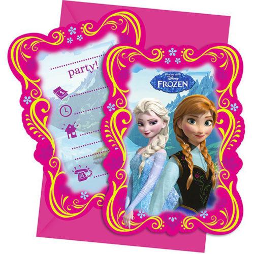 Приглашения 9 х 14 см Frozen Холодное сердце 6 штук