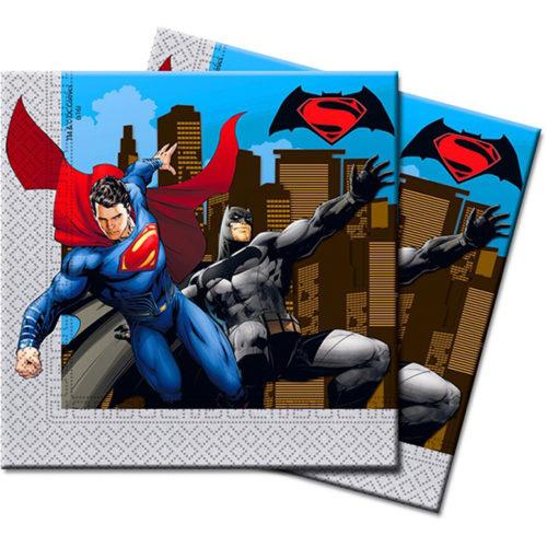 Салфетки 33 х 33 см Бэтмен против Супермена 20 штук