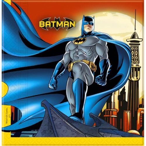 Салфетки 33 х 33 см Бэтмен Dark Hero 20 штук