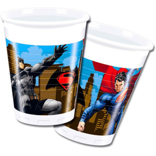 Стаканы 33 х 33 см Бэтмен против Супермена 20 штук