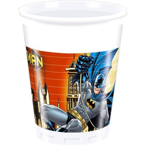 Стаканы пластиковые 200 мл Бэтмен Dark Hero 8 штук