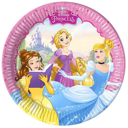 Тарелки бумажные 23 см Принцессы Disney 8 штук