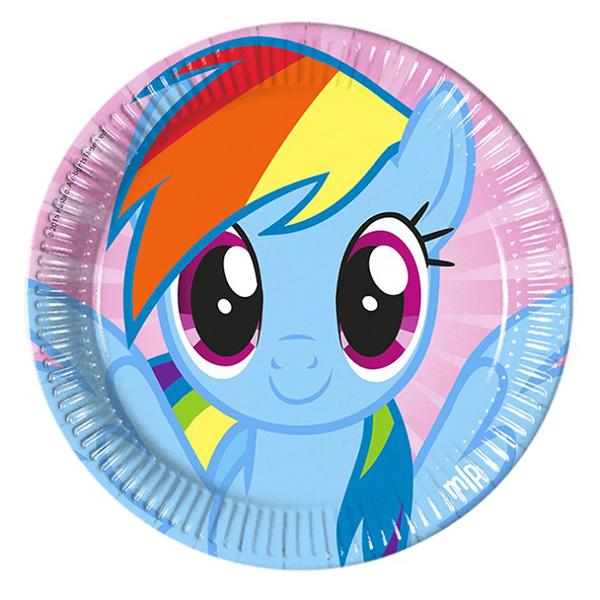 Тарелки бумажные 23 см Моя маленькая Пони 8 штук
