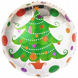 Шар 46 см Круг Новогодняя елка