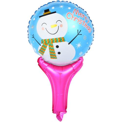 Шар 51 см Мини-фигура Счастливый снеговик