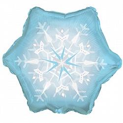 Шар 64 см Фигура Снежинка Голубой