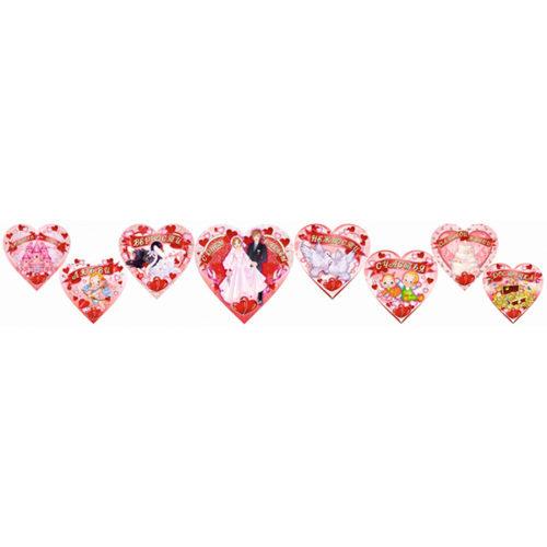 Баннер-комплект Свадебные Сердца 8 шт