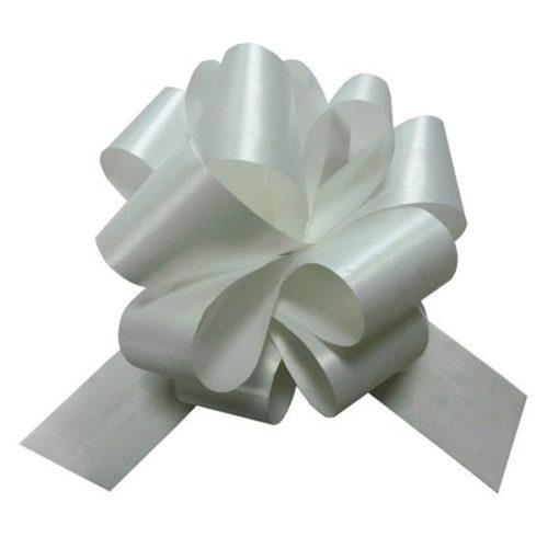 Бант Шар Пастель Белый 8 см 50 шт