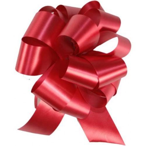 Бант Шар Пастель Красный 8 см 50 шт