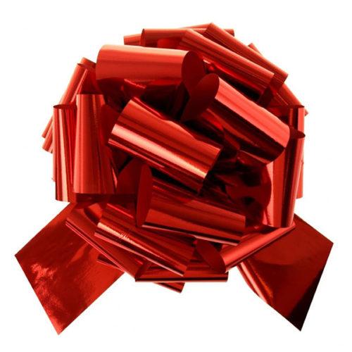 Бант Шар металлик Красный 17 см 20 шт