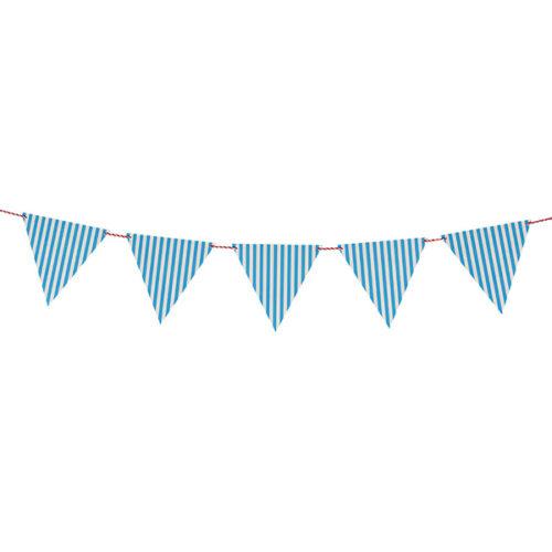 Гирлянда флажки Полосы синий 2 м