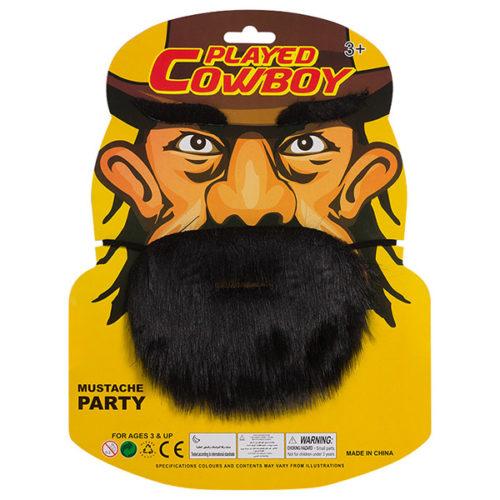 Набор Ковбой борода брови черный