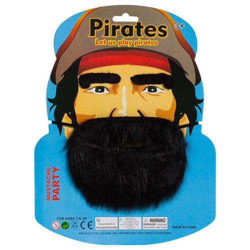 Набор Пират борода брови черный