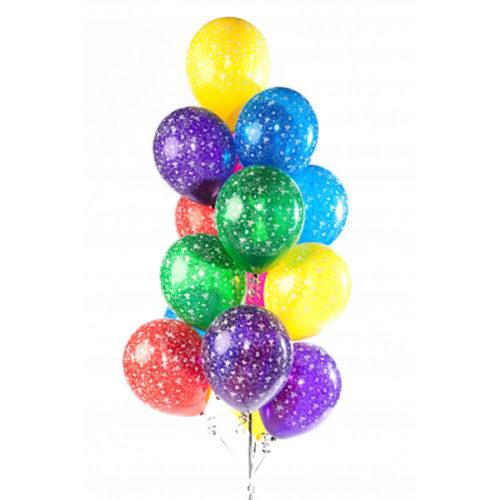 Набор из 15 разноцветных воздушных шаров с рисунком