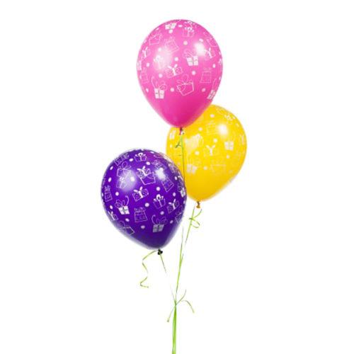 Набор из 3 желтых воздушных шаров Подарочки