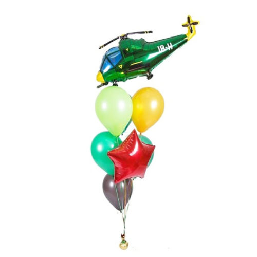 Набор из 8 воздушных шаров с вертолетом