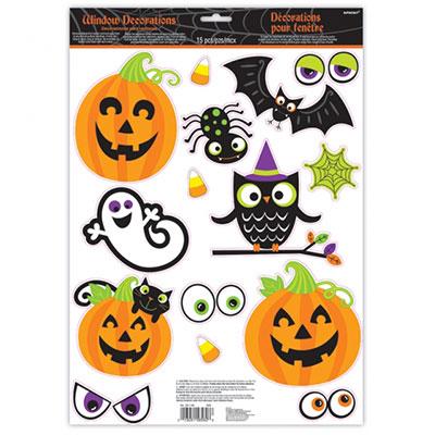 Наклейка на окно 31 х 60 Забавный Хэллоуин
