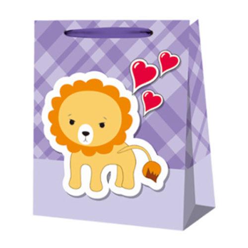 Пакет подарочный 18 х 23 х 10 Львенок