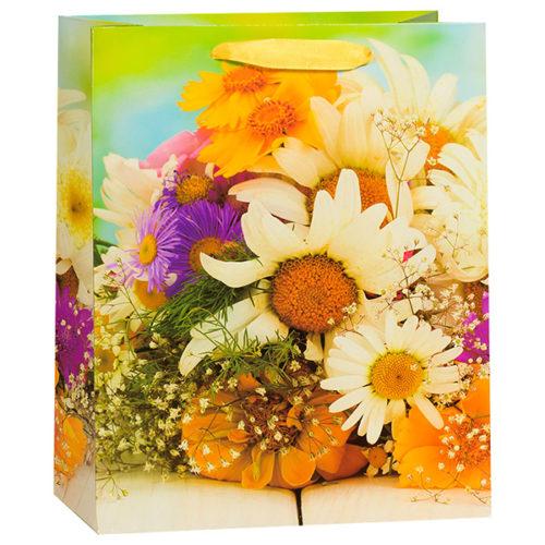 Пакет подарочный 21 х 25 х 10 Полевые цветы