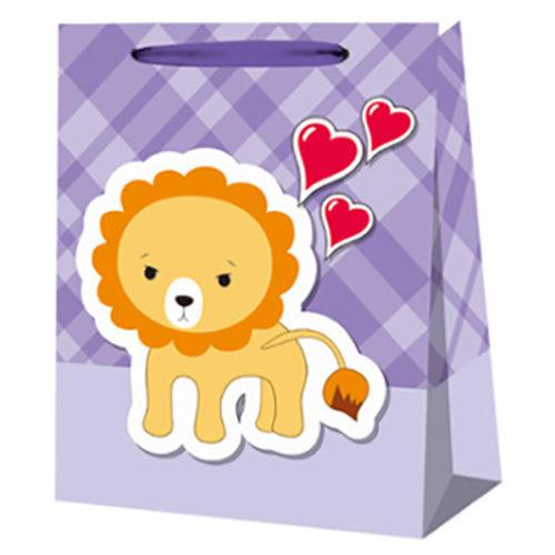 Пакет подарочный 26 х 32 х 12 Львенок
