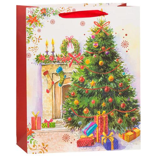 Пакет подарочный 26 х 32 х 12 Новогодний елка