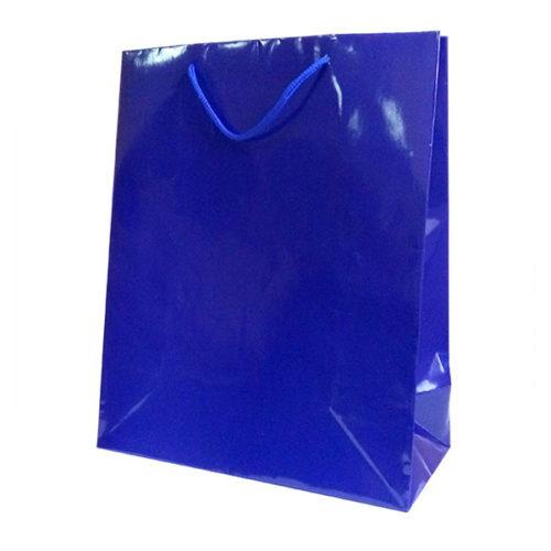 Пакет подарочный 26 х 32 х 12 Однотонный Синий