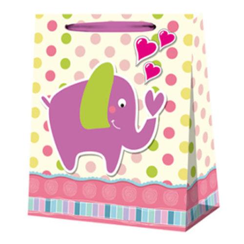 Пакет подарочный 26 х 32 х 12 Слоненок