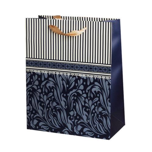 Пакет подарочный 26 х 32 х 12 Строгий стиль Синий