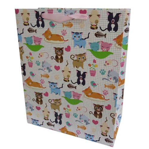 Пакет подарочный 31 х 42 х 12 Кошки