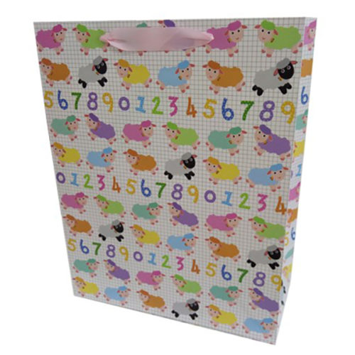 Пакет подарочный 31 х 42 х 12 Овечки цифры