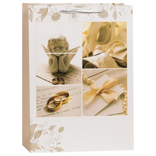 Пакет подарочный 31 х 42 х 12 Свадебный ангел