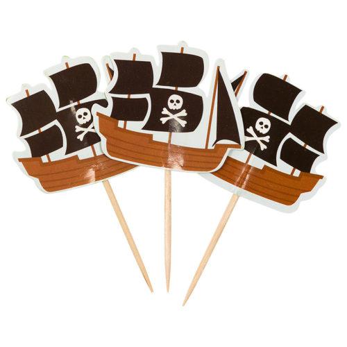 Пики для канапе Пиратский корабль 20 шт