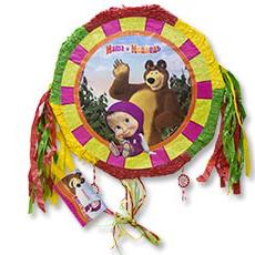 Пиньята 46 см Маша и Медведь с лентами складная