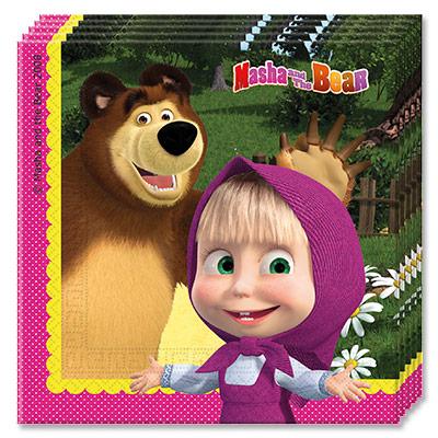 Салфетки Маша и Медведь 20 штук
