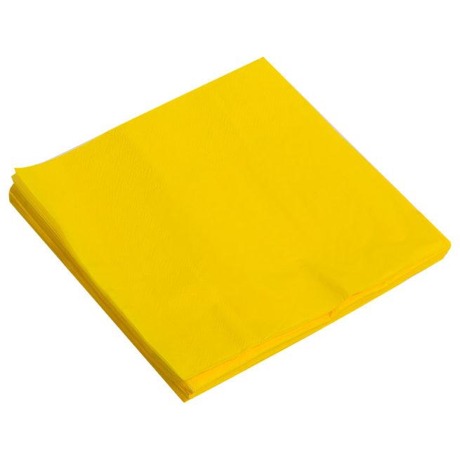 Салфетки 33см X 33см Однотонные Желтый 20 штук