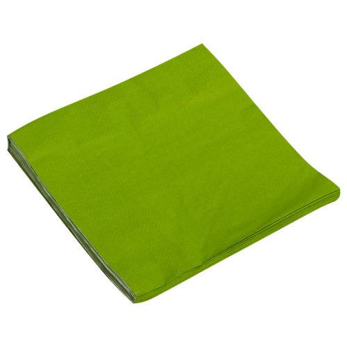Салфетки 33см X 33см Однотонные Зеленый 20 штук