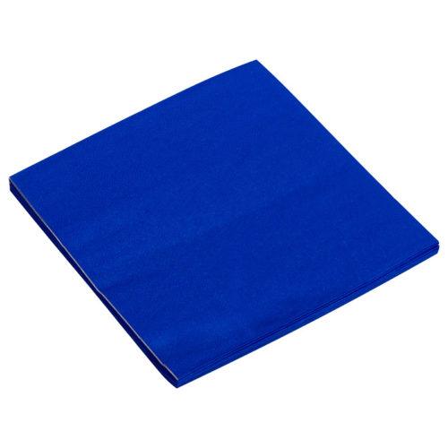 Салфетки 33см X 33см Однотонные Синий 20 штук
