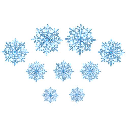 Снежинка бело-голубая 9 шт