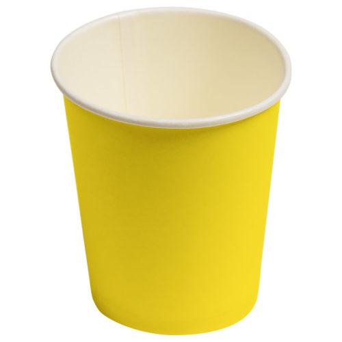 Стаканы бумажные 180 мл Однотонные Желтый 6 штук