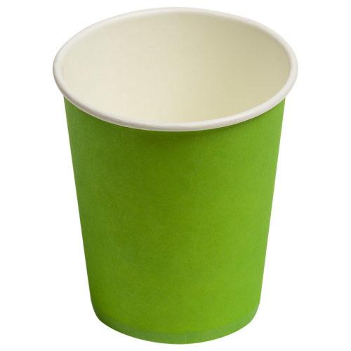 Стаканы бумажные 180 мл Однотонные Зеленый 6 штук