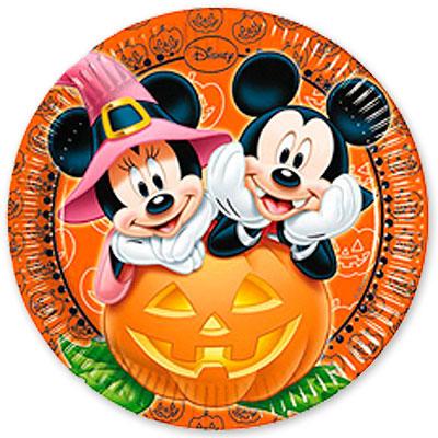 Тарелки большие Микки Хэллоуин 23 см