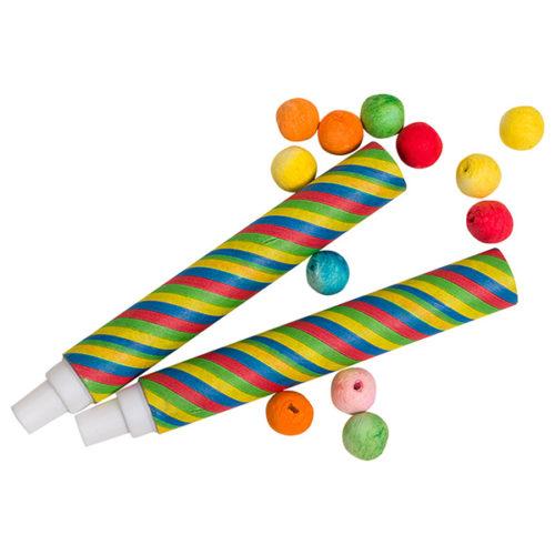 Трубочка с бумажными шариками 15 см 30 шариков