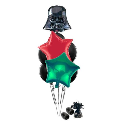 Фонтан со шлемом Дарта Вейдера из воздушных шаров
