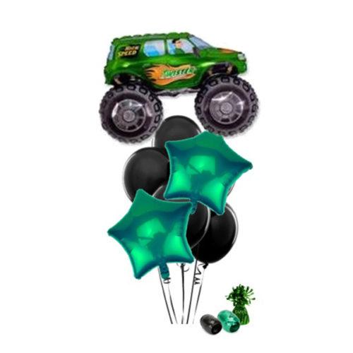 Фонтан с зеленымджипом из воздушных шаров