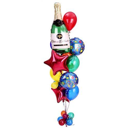Фонтан с шампанским из воздушных шаров