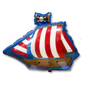 Шар 64 см Фигура Пиратский фрегат